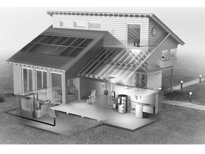 bomba de calor aire agua implantada en un hogar